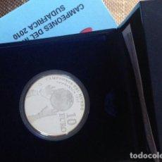 Monedas Franco: MONEDA PLATA CAMPEONES DEL MUNDO DE FÚTBOL SUDÁFRICA 2010 PROFF. . Lote 148230054