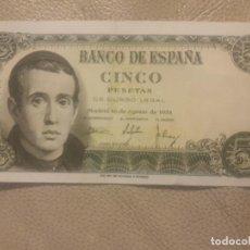 Monedas Franco: BILLETE DE 5 PESETAS 1951 (JAIME BALMES) CON SERIE U . Lote 148244326