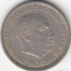 Monedas Franco: FRANCO: 5 PESETAS 1957 ESTRELLA 63. Lote 148332142