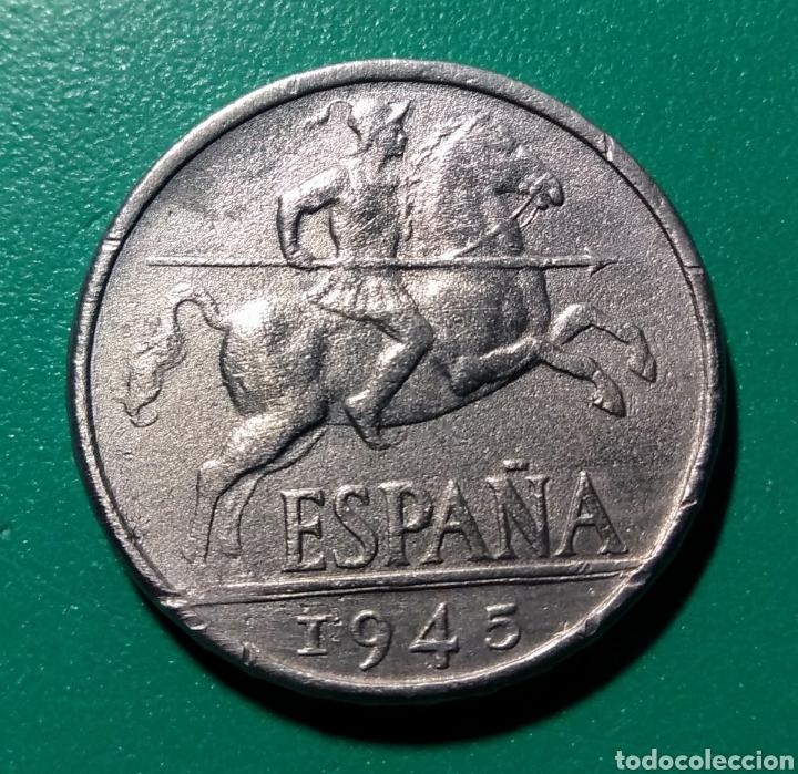 ESPAÑA. 10 CÉNTIMOS DE PESETA. 1945 (Numismática - España Modernas y Contemporáneas - Estado Español)