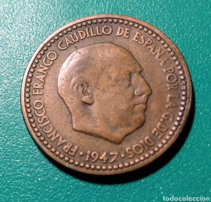 Monedas Franco: España. 1 Peseta 1947 *48 - Foto 2 - 148507132