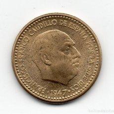 Monedas Franco: UNA PESETA DE 1947 *54 ERROR CUÑO FLOJO. Lote 148649606