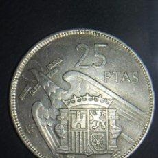 Monedas Franco: 1 MONEDA DE 25 PESETAS DE 1957 ESTRELLA * 67 FRANCISCO FRANCO. MBC. Lote 148846546