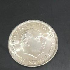 Monedas Franco: MONEDA DE 25 PESETAS FRANCO 1957 ESTRELLA 70.- SIN CIRCULAR. Lote 151075093
