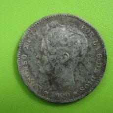 Monedas Franco: MONEDA DE PLATA DE ALFONSO XIII. 1900. Lote 194332006