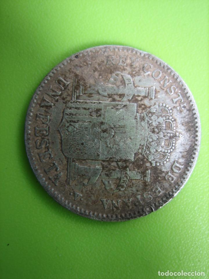 Monedas Franco: Moneda de plata de Alfonso XIII. 1900 - Foto 5 - 194332006