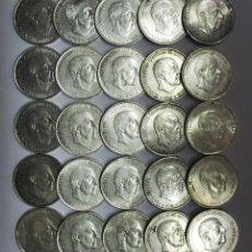 Monedas Franco: CONJUNTO DE 25 MONEDAS DE 100 PESETAS DE PLATA DEL ESTADO ESPAÑOL, VARIAS FECHAS. LOTE 1506. Lote 151141386