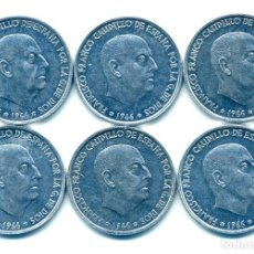 Monedas Franco: LOTE A-8: -6 MONEDAS DE 50 CÉNTIMOS 1966*73 -SIN CIRCULAR-. Lote 151294534