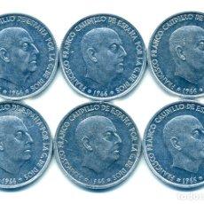 Monedas Franco: LOTE A-8: -6 MONEDAS DE 50 CÉNTIMOS 1966*73 -SIN CIRCULAR-. Lote 151296106