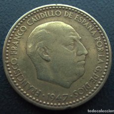 Monedas Franco: FRANCO, 1 PESETA 1947, ESTRELLA 51. Lote 195171088