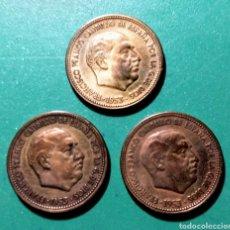 Monedas Franco: 3 MONEDAS. 2,50 PESETAS. 1953 *56. ERROR.. Lote 151905496