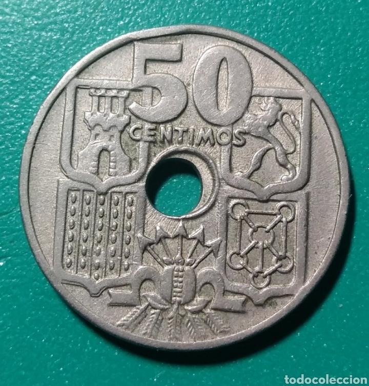 Monedas Franco: España. 50 Céntimos. 1949 *51. Errores. - Foto 2 - 152055592