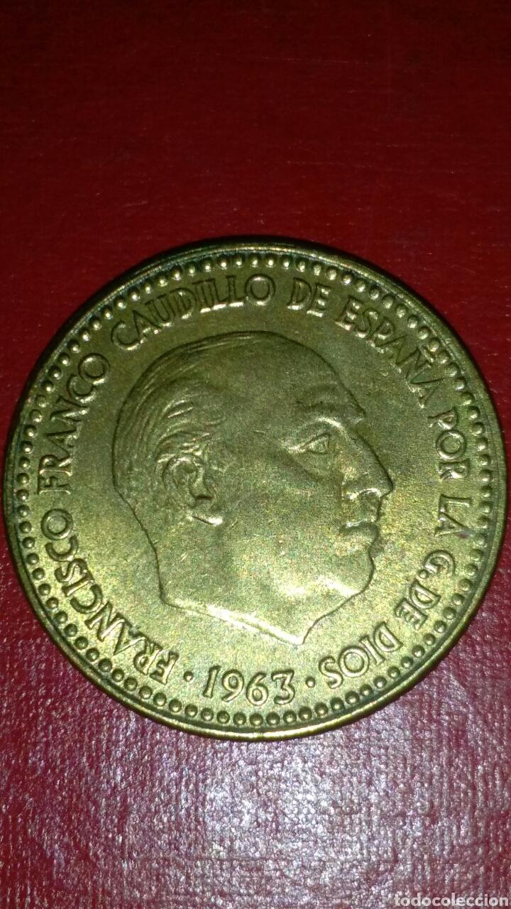 1 PESETA F FRANCO 1963*19*64 !! SIN CIRCULAR !! (Numismática - España Modernas y Contemporáneas - Estado Español)