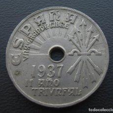 Monedas Franco: GUERRA CIVIL, BANDO NACIONAL, 25 CENTIMOS 1937. Lote 152586238