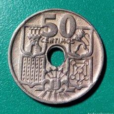 Monedas Franco: 50 CÉNTIMOS DE 1949 *53. AGUJERO DESPLAZADO. EBC.. Lote 152839118