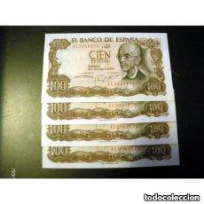 Monedas Franco: BILLETE 100 PESETAS 17 DE NOVIEMBRE DE 1970 CALIDAD S/CIRCULAR. Lote 153226226