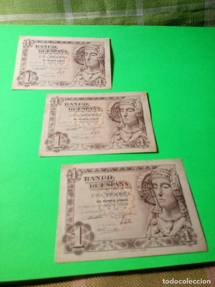 Monedas Franco: TRES PESETAS. DAMA DE ELCHE. SIN SERIES. 19.6.1.948. EBC PERFECTOS. 2 CORRELATIVOS. DESCRIP. Y FOT - Foto 2 - 153516854