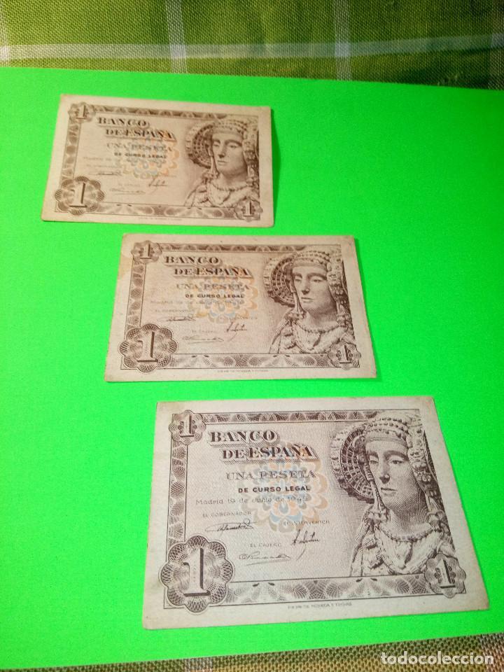 Monedas Franco: TRES PESETAS. DAMA DE ELCHE. SIN SERIES. 19.6.1.948. EBC PERFECTOS. 2 CORRELATIVOS. DESCRIP. Y FOT - Foto 3 - 153516854
