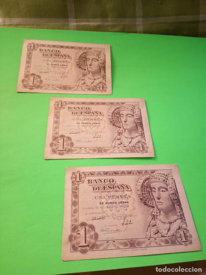 Monedas Franco: TRES PESETAS. DAMA DE ELCHE. SIN SERIES. 19.6.1.948. EBC PERFECTOS. 2 CORRELATIVOS. DESCRIP. Y FOT - Foto 4 - 153516854
