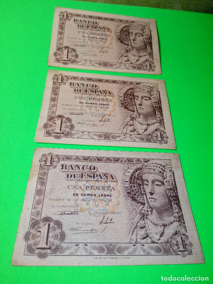 Monedas Franco: TRES PESETAS. DAMA DE ELCHE. SIN SERIES. 19.6.1.948. EBC PERFECTOS. 2 CORRELATIVOS. DESCRIP. Y FOT - Foto 7 - 153516854