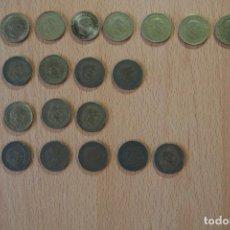 Monedas Franco: COLECCIÓN 25 MONEDAS 1 PESETA AÑOS DIFERENTES Y ESTRELLAS VISIBLES 1944 1947 1953 1963 1966 FRANCO. Lote 153704338