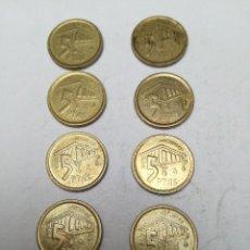 Monedas Franco: LOTE DE 8MONEDAS DE 5 PESETAS JUAN CARLOS I AÑO 1995 ASTURIAS. Lote 153836242