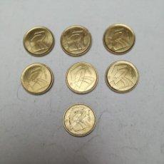 Monedas Franco: LOTE DE 7 MONEDAS DE 5 PESETAS JUAN CARLOS I AÑO 2000 . Lote 153839690