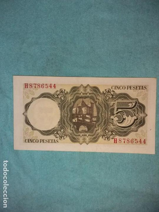 Monedas Franco: 5 pesetas 16 de agosto 1951. Jaime Balmes. SC+ - Foto 2 - 154192282