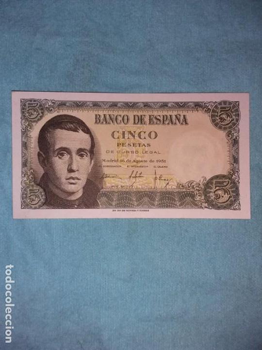 5 PESETAS 16 DE AGOSTO 1951. JAIME BALMES. SC+ (Numismática - España Modernas y Contemporáneas - Estado Español)