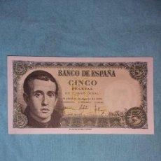 Monedas Franco: 5 PESETAS 16 DE AGOSTO 1951. JAIME BALMES. SC+. Lote 154192282
