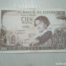 Monedas Franco: BILLETE DE 100 PESETAS DE 1965. Lote 154198642