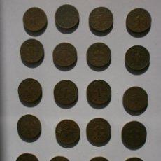 Monedas Franco: LOTE DE 20 MONEDAS 1 PESETA 1944 BUEN ESTADO. Lote 154558514