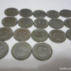 Monedas Franco: LOTE DE 5 PESETAS DE FRANCO DE 1957 (TODA LA SERIE, ESTRELLAS DESDE EL 58 AL 75). Lote 155312758