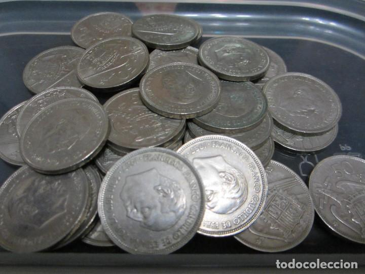 Monedas Franco: Lote de 50 pesetas de Franco de 1957 (30 piezas) - Foto 2 - 155313198