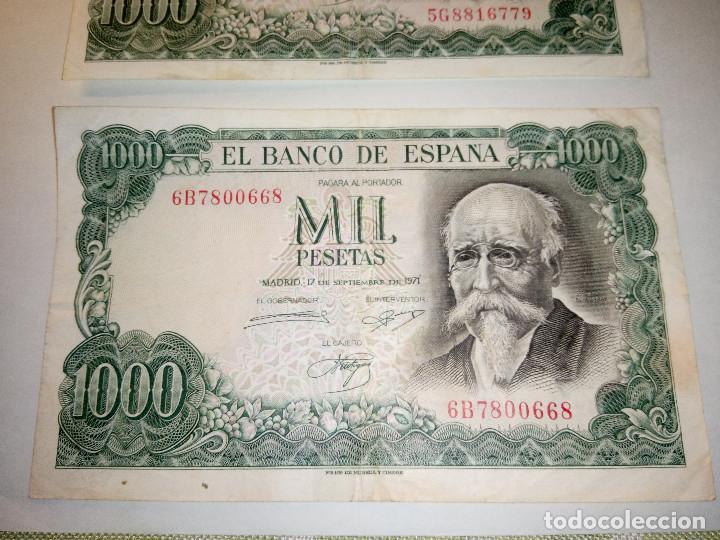 Monedas Franco: BILLETE JOSE ECHEGARAY. DOS DE 1.000 PESETAS. 17.9.1.971 AUTENTICOS. DESCRIP. Y FOTOS. - Foto 4 - 156589618