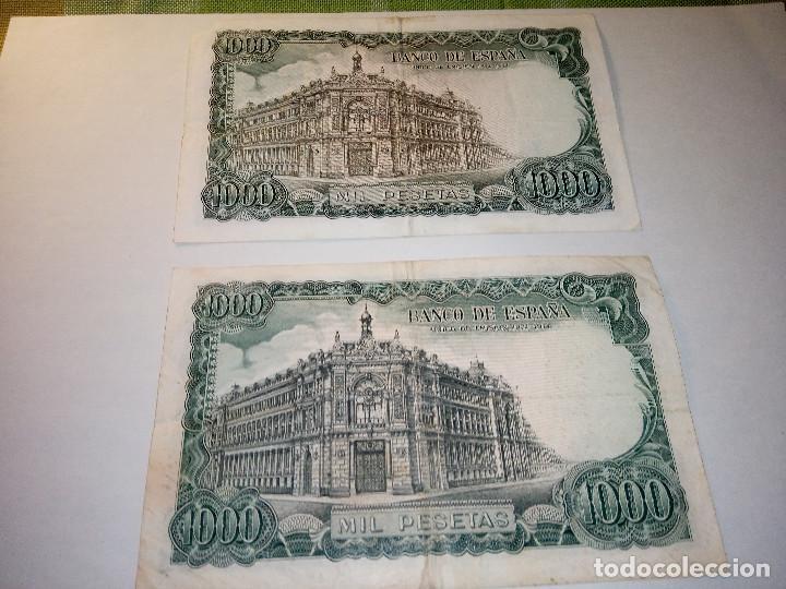 Monedas Franco: BILLETE JOSE ECHEGARAY. DOS DE 1.000 PESETAS. 17.9.1.971 AUTENTICOS. DESCRIP. Y FOTOS. - Foto 5 - 156589618