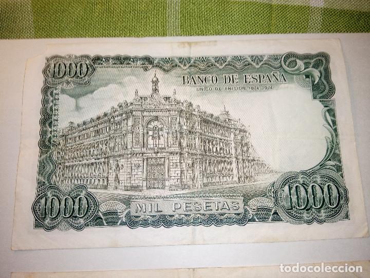Monedas Franco: BILLETE JOSE ECHEGARAY. DOS DE 1.000 PESETAS. 17.9.1.971 AUTENTICOS. DESCRIP. Y FOTOS. - Foto 6 - 156589618