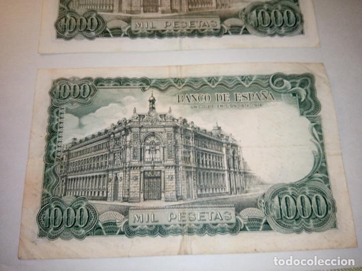 Monedas Franco: BILLETE JOSE ECHEGARAY. DOS DE 1.000 PESETAS. 17.9.1.971 AUTENTICOS. DESCRIP. Y FOTOS. - Foto 7 - 156589618