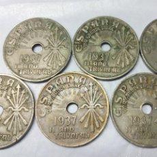 Monedas Franco: 7 MONEDAS DE 25 CÉNTIMOS ESTADO ESPAÑOL 1937, VIENA (II AÑO TRIUNFAL) - MEDIDA 2'50 CM.. Lote 156705702