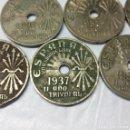 Monedas Franco: 7 MONEDAS DE 25 CÉNTIMOS ESTADO ESPAÑOL 1937, VIENA (II AÑO TRIUNFAL) - MEDIDA 2'50 CM.. Lote 156705902