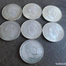 Monedas Franco: LOTE DE 7 MONEDAS DE 100 PTAS DE PLATA. Lote 156735602