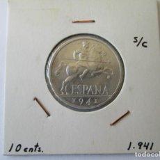 Monedas Franco: ESTADO ESPAÑOL * 10 CENTIMOS 1941 * S/C. Lote 156855754