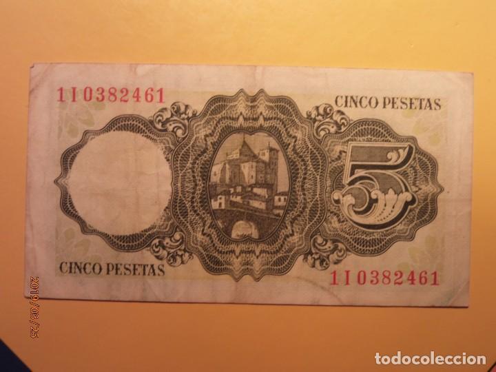 Monedas Franco: BILLETE - BANCO DE ESPAÑA - CINCO PESETAS - JAIME BALMES - 5 PTAS - 1951. - Foto 2 - 156875778