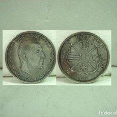 Monedas Franco: MONEDA 100 PTS FRANCO 1966 - *66 ESTRELLAS 19/66 - 9 TRAMO RECTO ¡¡FALSA DE EPOCA¡¡ PESETAS AÑO. Lote 156885170