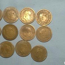 Monedas Franco: 12 MONEDAS DE 2,50 PESETAS. Lote 158111390