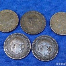 Monedas Franco: LOTE 5 MONEDAS ESPAÑOLAS. Lote 158939670