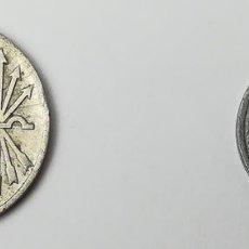 Monedas Franco: MONEDAS DE 5 CÉNTIMOS Y 25 CÉNTIMOS. ESPAÑA 1937. Lote 159946134