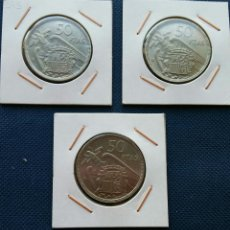 Monedas Franco: 50 PESETAS 1957 *58*59*60 SC. Lote 160209288