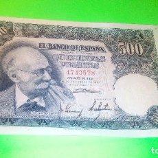 Monedas Franco: 500 PESETAS - MARIANO BENLLIURE 15.11.1.951 SIN SERIE. AUTENTICO. FOTOS Y DESCRIPCION.. Lote 160559218