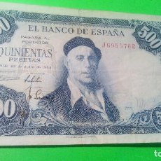 Monedas Franco: 500 PESETAS - IGNACIO SULOAGA - 22.07.1.954 J 6955762 AUTENTICO. FOTOS Y DESCRIPCION.. Lote 160560742